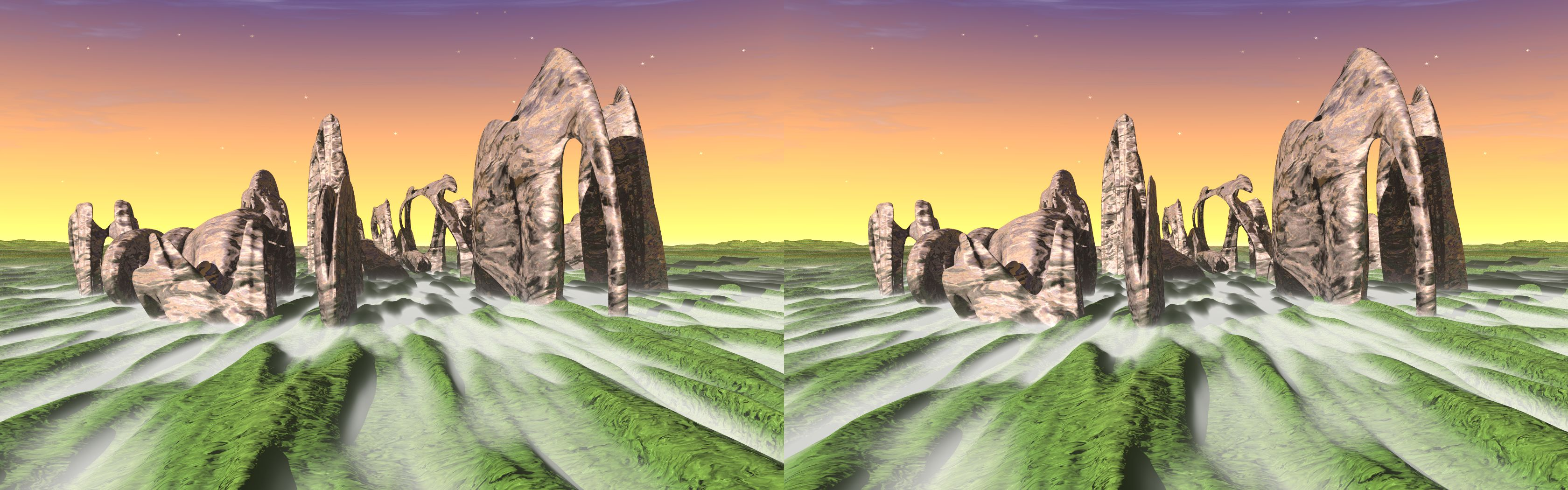 Sleeping Mammoth - 3D stereo JPS image