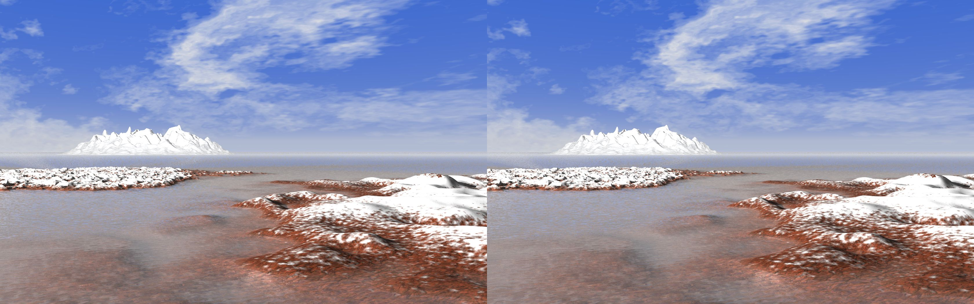 Silent Ice Coast - 3D stereo JPS image