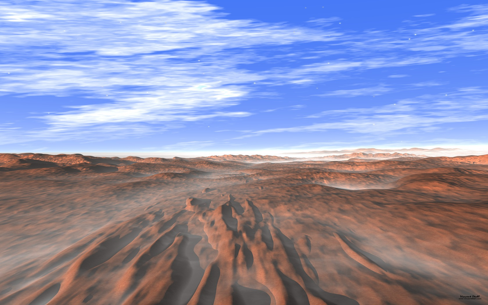Red Mars Landscape - Desktop backgrounds