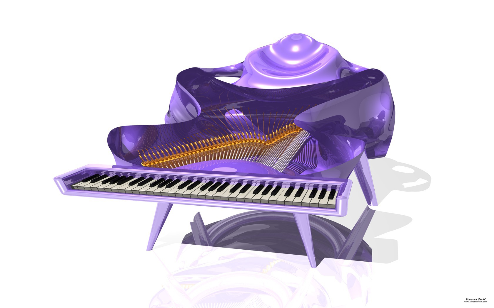 Purple Fractal Piano Desktop Backgrounds 1680x1050