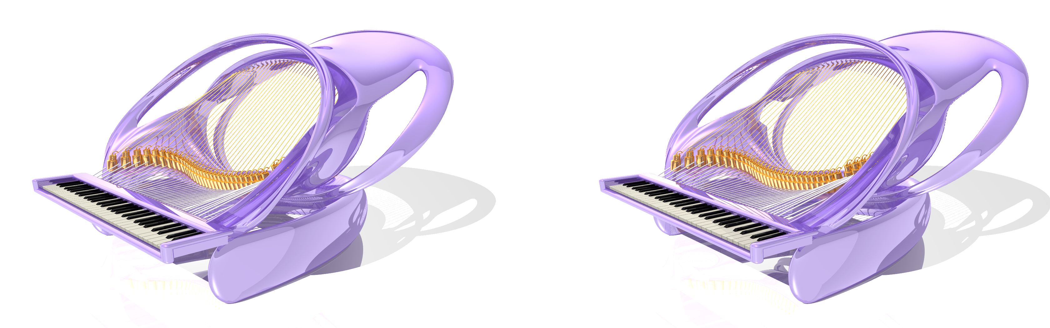 Octopus Piano - 3D stereo JPS image