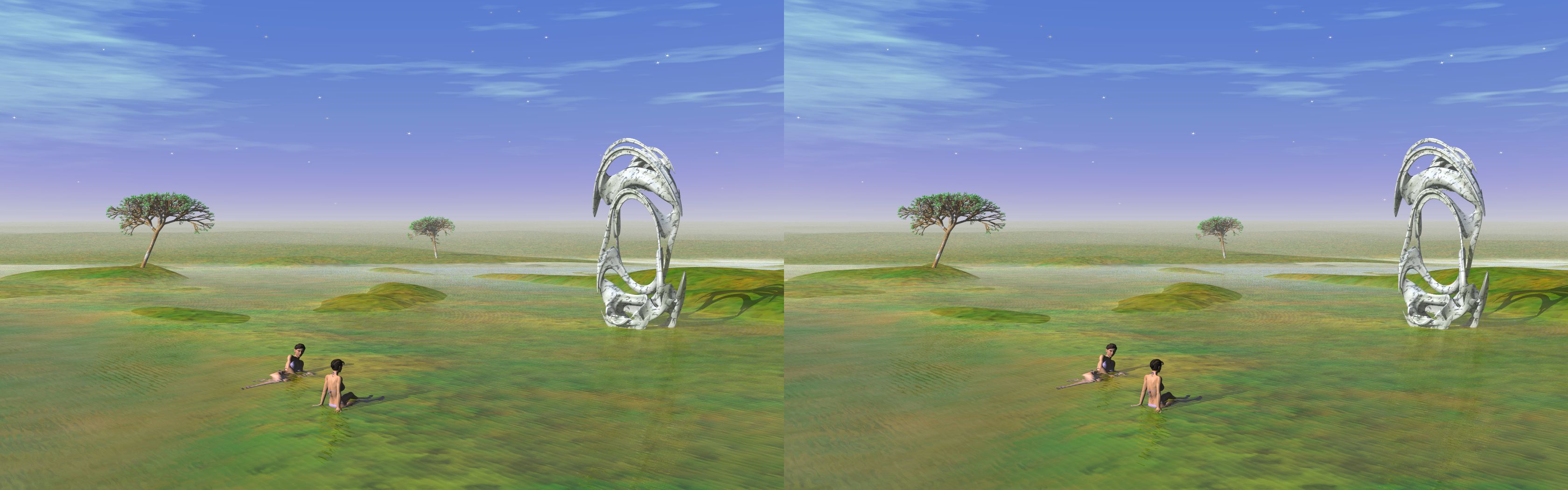 Water Meadows - 3D stereo JPS image