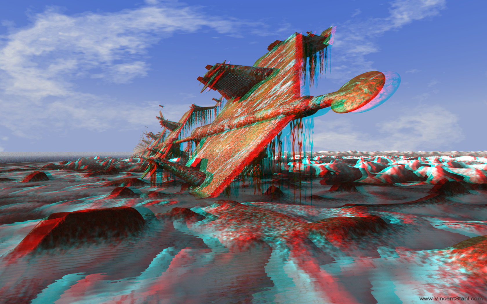 A Frozen Dream - 3D stereo anaglyph color